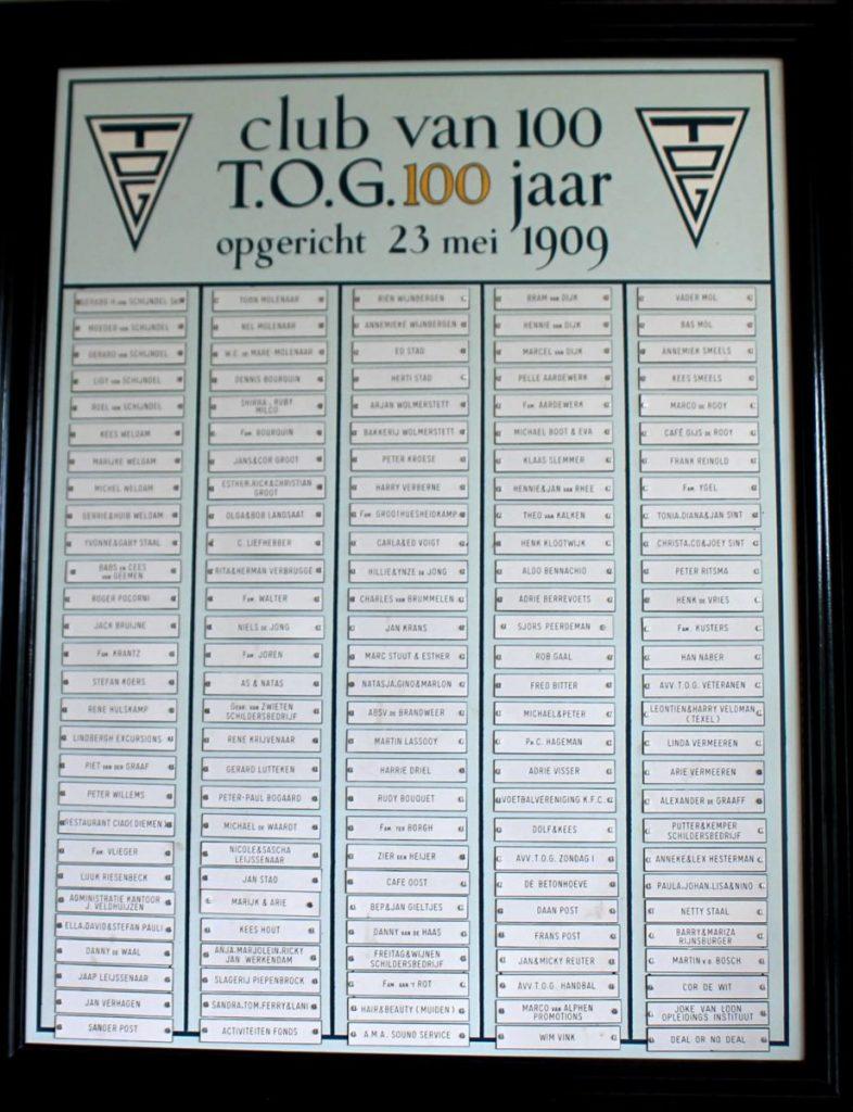 Club van 100 - Ook de familie Bourquin hoort daarbij! Foto: T.O.G.