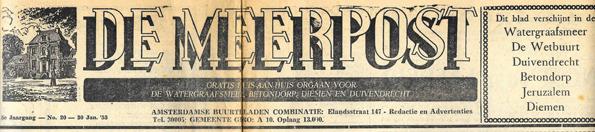 De Meerpost 1953