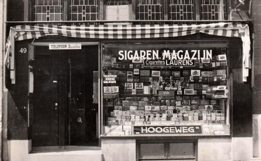Hogeweg 49 - midden jaren 50 - Foto: familie Simis - Alle rechten voorbehouden