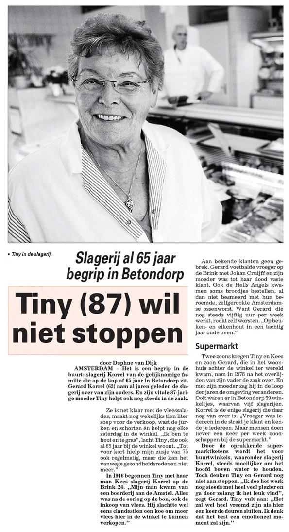 Op 11-11-2011 gelezen in De Telegraaf Datum 11 - 11 - 2011 Bron: Dagblad De Telegraaf Foto: Rob de Jong .  Alle rechten voorbehouden