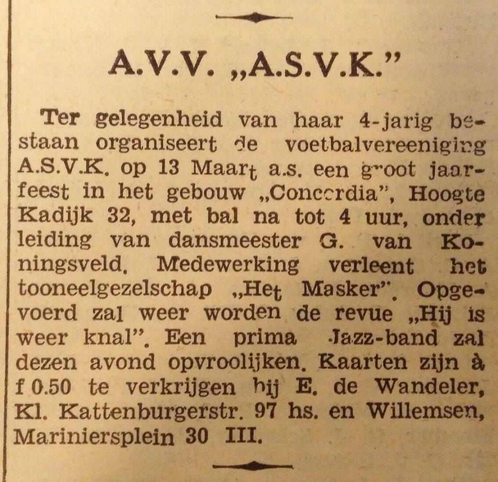 avv ASVK - 1937