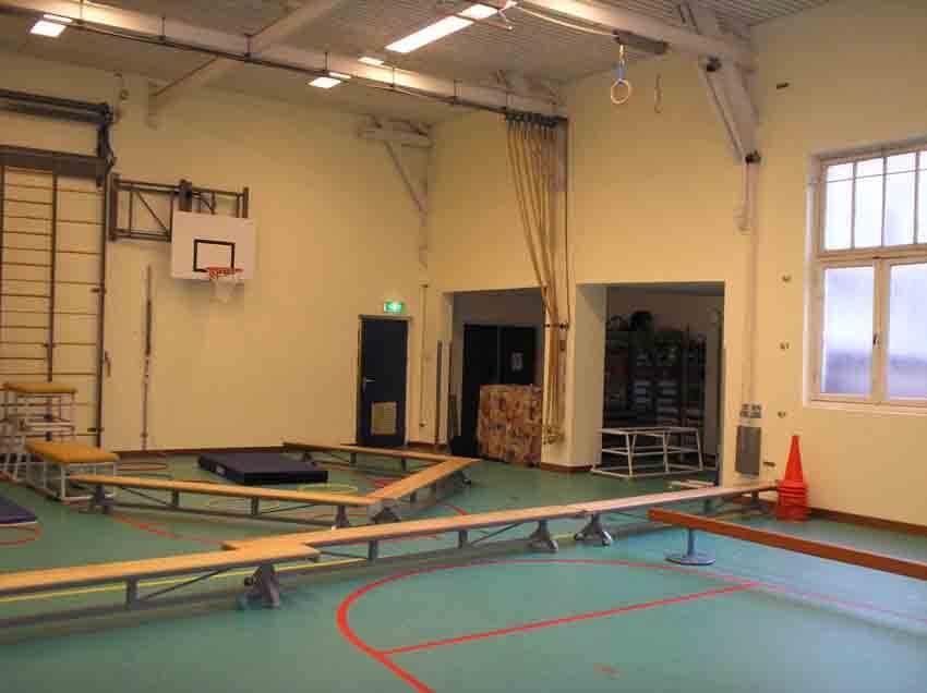 De gymzaal van de Hogewegschool, nu Frankendaelschool geheten, anno 2007. Alle rechten voorbehouden