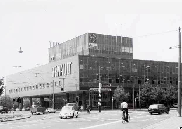 De oude Renault garage, Wibautstraat 224, 1970. Foto: Stadsarchief, Amsterdam Alle rechten voorbehouden