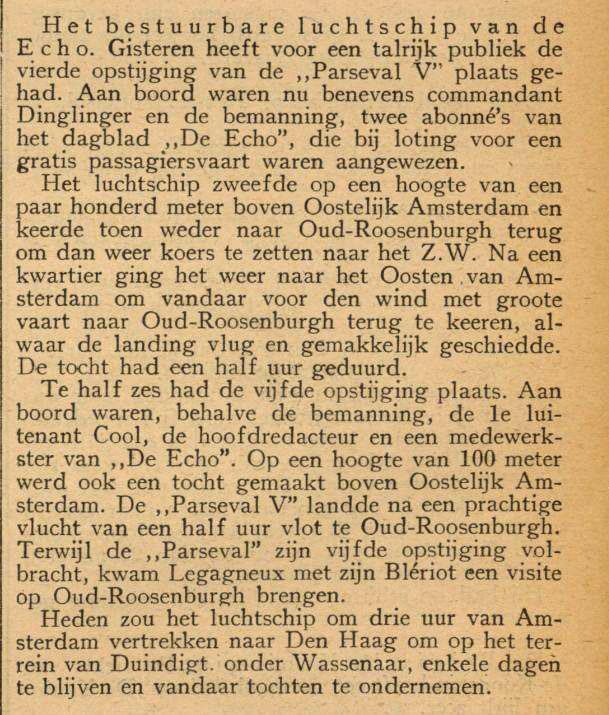 Bron: Delftsche Courant 5 mei 1911 - Alle rechten voorbehouden.