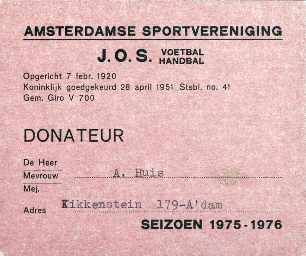 Donateurkaart