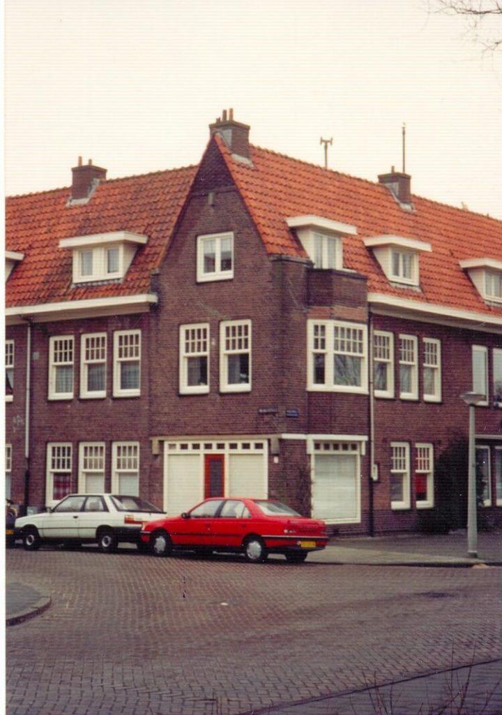 Radioweg hoek Galvanistraat. De familie de Koning woonde op de Radioweg 13 boven. Dat is op deze foto het hoekhuis. (foto Henk de Koning) Alle rechten voorbehouden