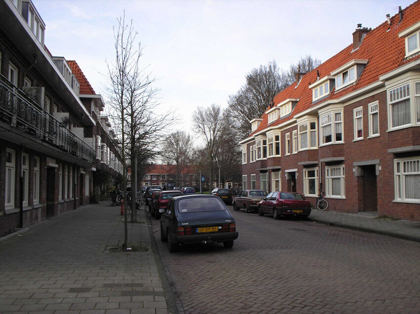 De Faradaystraat anno 2006. (foto Jo Haen) Alle rechten voorbehouden