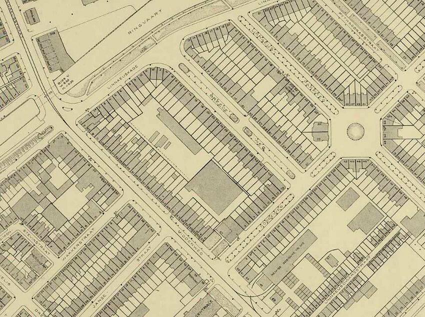 DOW - Kaart L7 met Hogeweg en Bredeweg. DOW kaart L7 met de Hoogeweg en de Breedeweg (1912 – 1933) in de oude spelling.