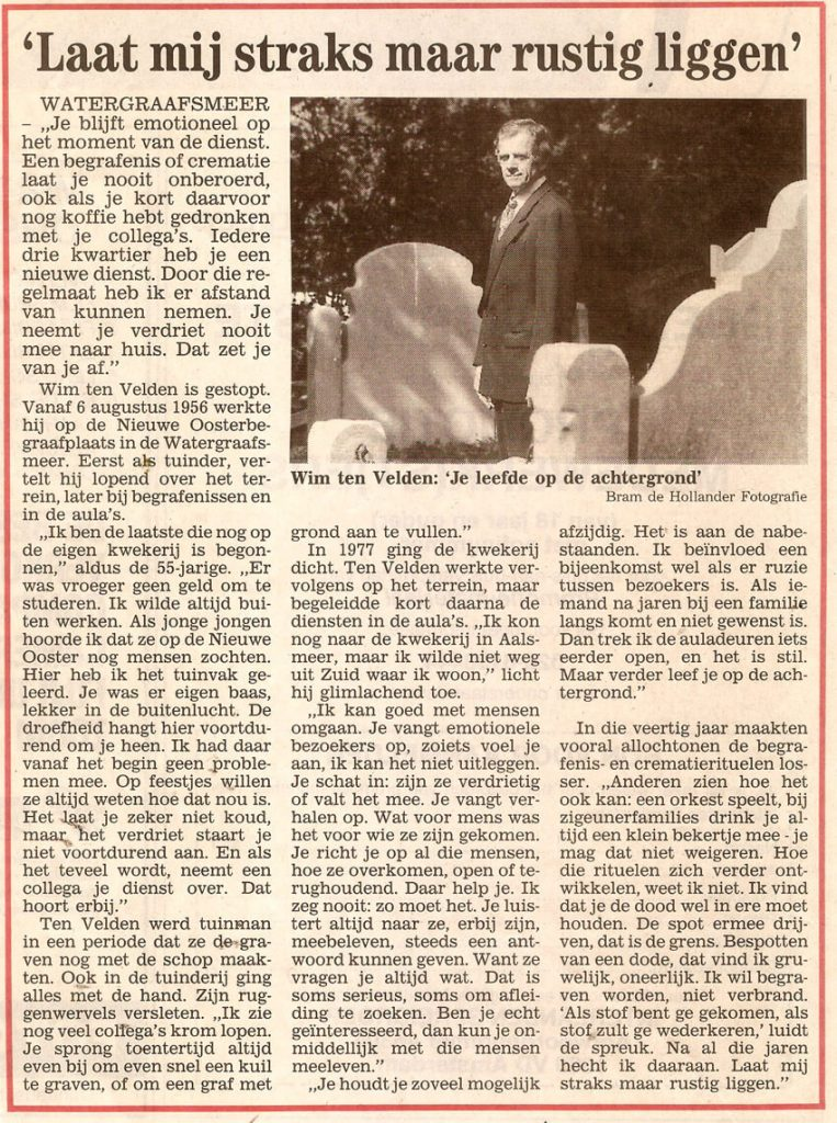 Bron: Stadsblad 4 september 1996