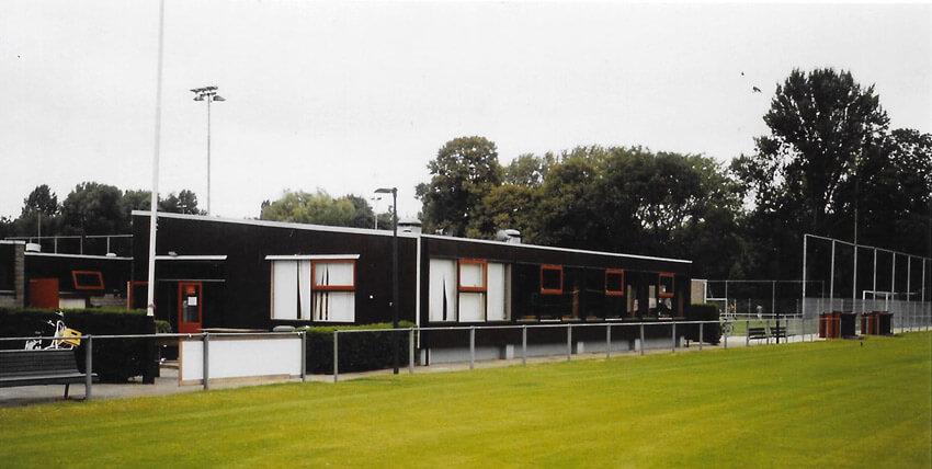 Clubgebouw in 1975 - Foto: Archief s.v. De Meer - Alle rechten voorbehouden