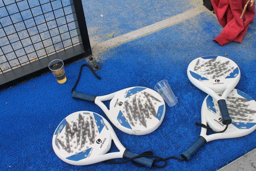 De rackets. Foto: Jo Haen - Alle rechten voorbehouden