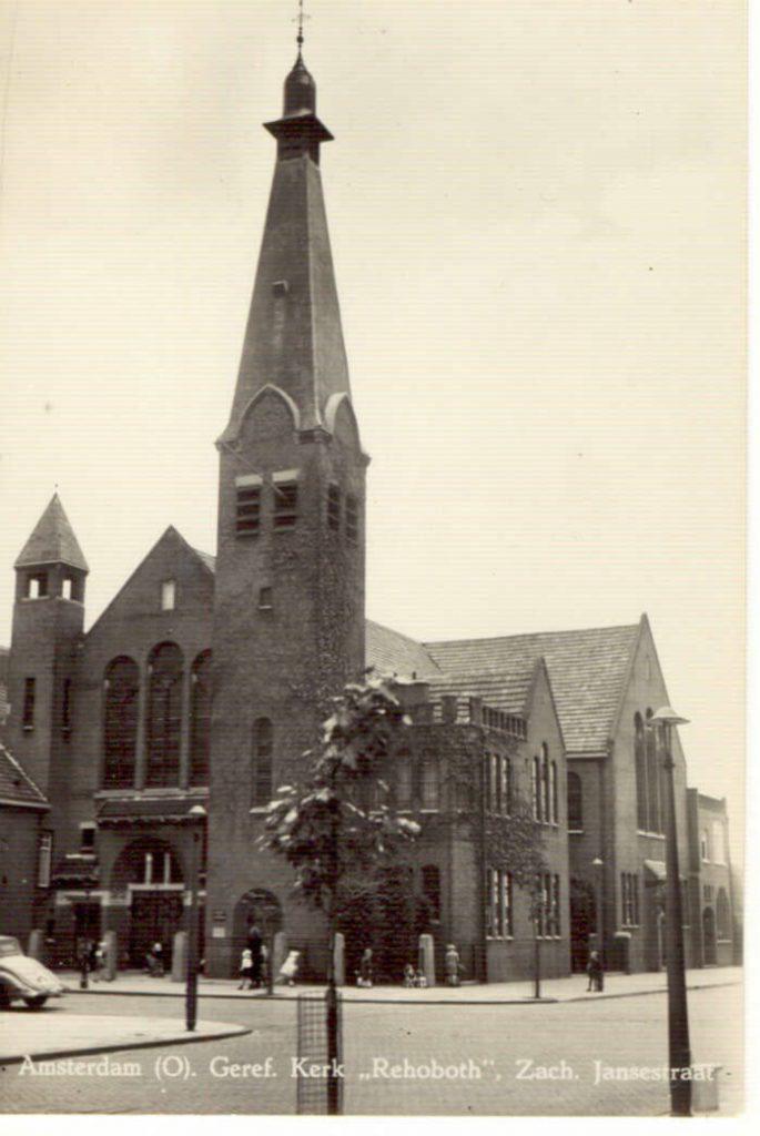 De Gereformeerde Kerk Rehoboth in de Zacharias Jansestraat. Helaas in de jaren '70 van de vorige eeuw afgebroken. Alle rechten voorbehouden