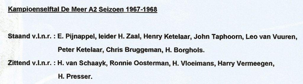 1968 23-5-1968 s.v. De Meer A2 seizoen 1967-1968 (1)