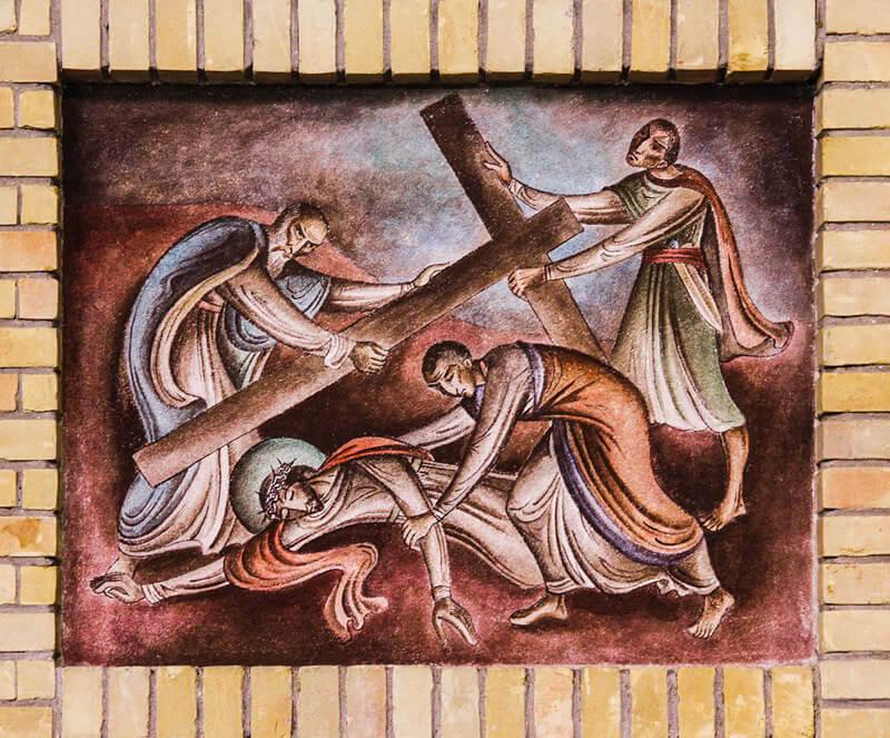Kunstwerken: Een van de onderdelen van de kruiswegstaties - Foto: Hofkerk - Alle rechten voorbehouden