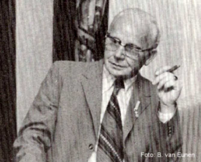C. Timmerman jubileum 40 jr in 1974. . Foto: Bert van Eunen  Alle rechten voorbehouden