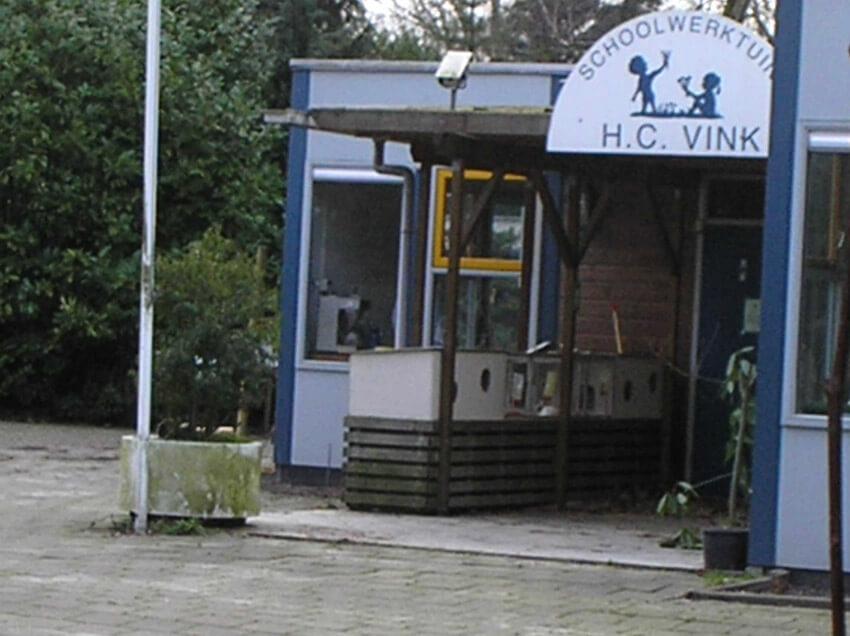 Ingang schooltuintjes Ingang schooltuinencomplex H.C.Vink op het terrein van park Frankendael.