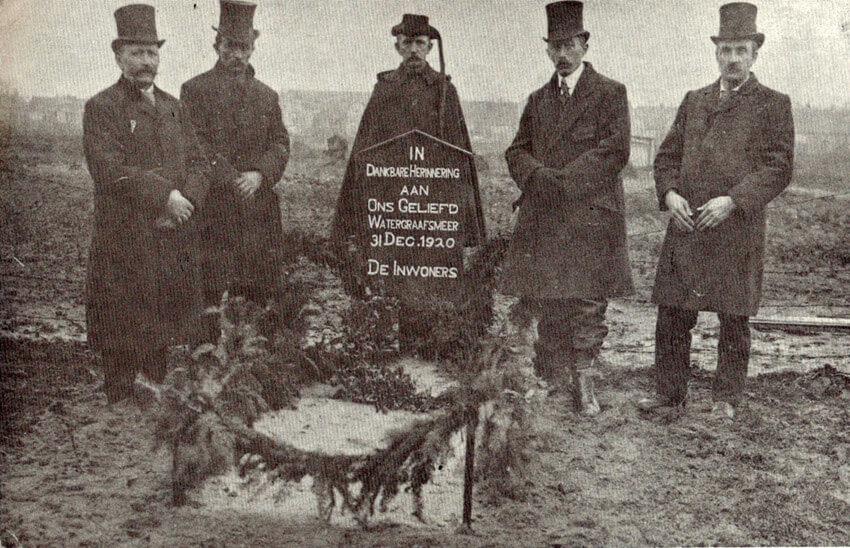 De begrafenis van de Watergraafsmeer op 31 december 1920 - Alle rechten voorbehouden