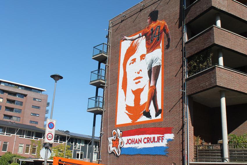 Muurschildering op de Wembleylaan - Foto: Jo Haen - Alle rechten voorbehouden